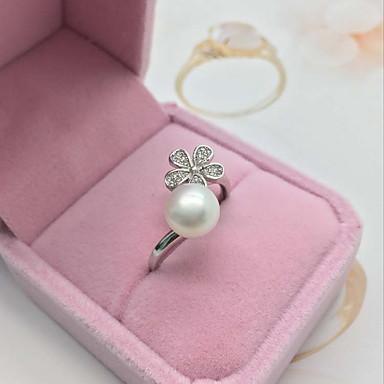 Yüzük İnci Beyaz Mücevher Için Günlük 1pc