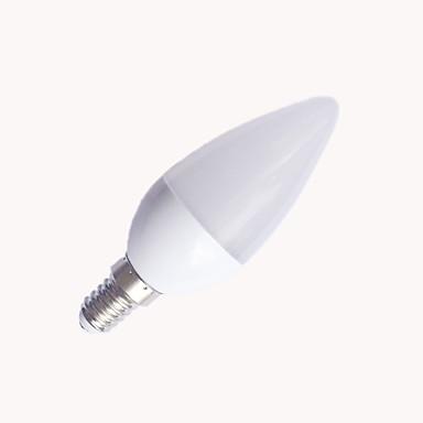 1pc 6W 560 lm E14 LED Mum Işıklar C37 10 led SMD 2835 Sıcak Beyaz Serin Beyaz 3000/6500K AC 220-240V