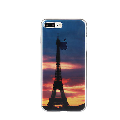 Na Wzór Kılıf Etui na tył Kılıf Wieża Eiffla Miękkie TPU na Apple iPhone 7 Plus iPhone 7 iPhone 6s Plus/6 Plus iPhone 6s/6