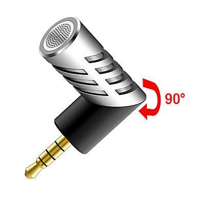 NO السلكية ميكروفون كاريوكي 3.5 مم فضة