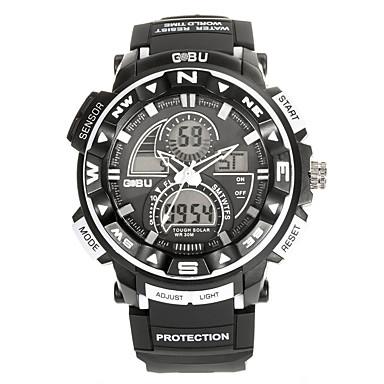 Męskie Sportowy Modny Zegarek na nadgarstek Zegarek cyfrowy Kwarcowy Cyfrowe Silikon Pasmo Postarzane Na co dzień Wielokoloroe