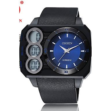 Ανδρικά Αθλητικό Ρολόι Μοδάτο Ρολόι Ρολόι Καρπού Στρατιωτικό Ρολόι Ψηφιακό ρολόι Χαλαζίας Ψηφιακό Γνήσιο δέρμα Μπάντα Καθημερινό Πολύχρωμο