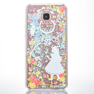 Varten Virtaava neste Kuvio Etui Takakuori Etui Seksikäs nainen Kova PC varten Samsung A7(2016) A5(2016)