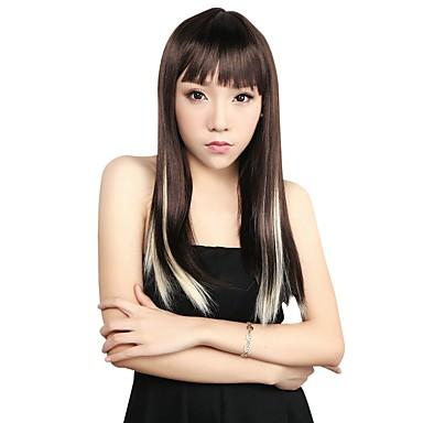 neitsi 10pcs 18inch destaque colorido sintético grampo em extensões no cabelo 613 #