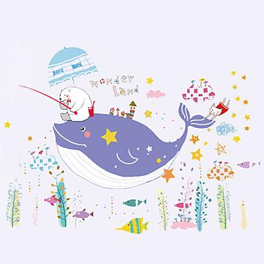 Eläimet Piirretty Sanat ja lainaukset Wall Tarrat Lentokone-seinätarrat Koriste-seinätarrat,Paperi materiaali Kodinsisustus Seinätarra