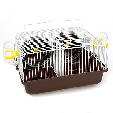 Kemirgenler Hamster Plastik Metal Çok-fonksiyonlu Mağarada Kahve Mavi Pembe