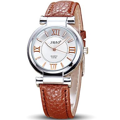 Pentru femei Ceas de Mână Ceas La Modă Quartz cald Vânzare Piele Bandă Casual Cool Negru Alb Roșu Maro