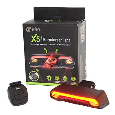 Pyöräilyvalot Laser LED LED Pyöräily Kauko-ohjain Vedenkestävä Erityiskevyet Litium-akku 80 Lumenia Akku Pyöräily Ulkoilu