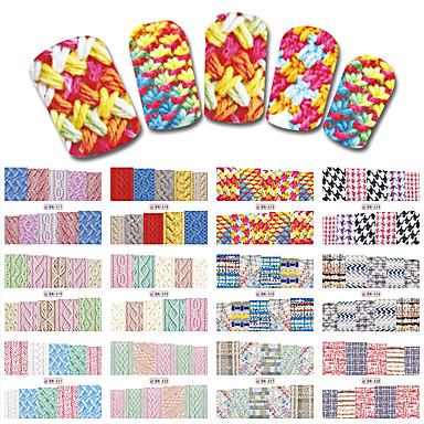 1sets, 12designs Nail Art autocolant Decals de transfer de apă machiaj cosmetice Nail Art Design