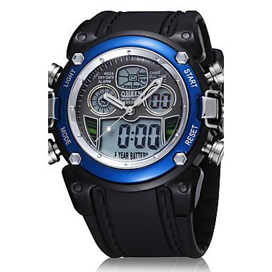 Erkek Dijital saat Bilek Saati Elbise Saat Moda Saat Spor Saat Quartz Dijital Gerçek Deri Bant İhtişam Lüks Günlük Çok-Renkli
