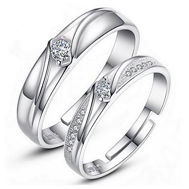 Pierścionki Ślub Impreza Codzienny Casual Biżuteria PosrebrzanyPierścionki dla par Pierścionki na palec środkowy Pierscionek Pierścionek