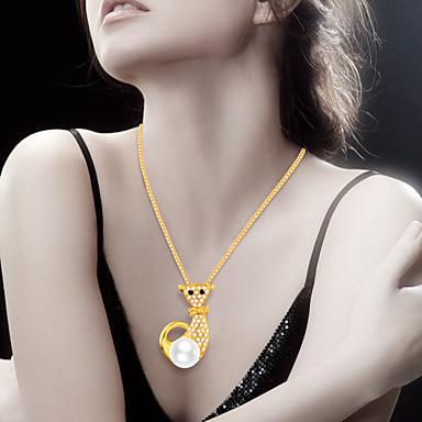 Męskie Damskie Breloczki Kot Zwierzę Imitacja diamentu Stop Zwierzęta Modny Słodkie Style Biżuteria Na Codzienny Casual