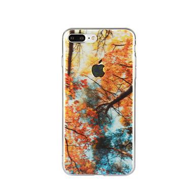Etui Käyttötarkoitus Apple iPhone 6 iPhone 7 Plus iPhone 7 Kuvio Takakuori Scenery Pehmeä TPU varten iPhone 7 Plus iPhone 7 iPhone 6s
