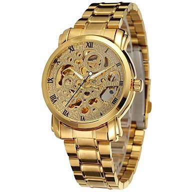 Męskie zegarek mechaniczny Zegarek na nadgarstek Do sukni/garnituru Modny Sportowy Nakręcanie automatyczne Kalendarz Stop Pasmo Urok Na