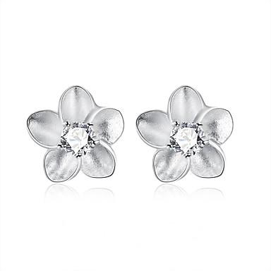 Cubic Zirconia Κουμπωτά Σκουλαρίκια Κοσμήματα Γυναικεία Καθημερινά Causal Ζιρκονίτης Χαλκός 1 ζευγάρι Ασημί