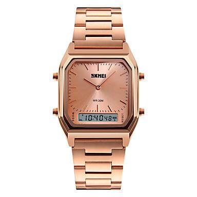 e64a40f9afe baratos Relógios em Oferta-Homens Relógio Esportivo Relógio de Pulso  Quartzo Aço Inoxidável Prata