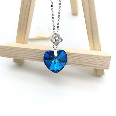 Naisten Riipukset Safiiri Kristalli Gemstone Kristalli Timanttijäljitelmä Yksinkertainen Love Muoti Ihana ylellisyyttä koruja Sininen