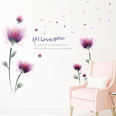 Modă Florale Fantezie Perete Postituri Autocolante perete plane Autocolante de Perete Decorative, Hârtie Pagina de decorare de perete