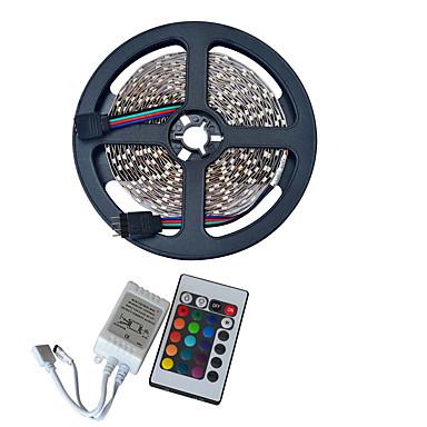 RGB Şerit Işıklar 300 LED'ler Uzaktan Kontrol Kesilebilir Su Geçirmez Renk Değiştiren Kendinden Yapışkanlı Araçlar İçin Uygun Bağlanabilir