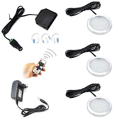 Недорогие LED освещение для шкафчиков-ONDENN 600 lm 12 Светодиодные бусины Дистанционно управляемый Диммируемая Простая установка Подсветка для шкафов Тёплый белый Холодный белый 85-265 V Детская комната Кухня Спальня / 3 шт. / RoHs / CE