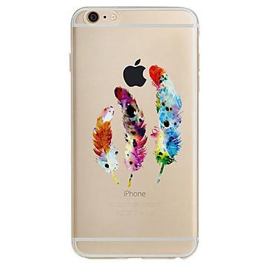 Για Εξαιρετικά λεπτή Με σχέδια tok Πίσω Κάλυμμα tok Φτερό Μαλακή TPU για Apple iPhone 7 Plus iPhone 7 iPhone 6s Plus/6 Plus iPhone 6s/6