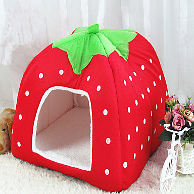 Cat / Dog Bed Pet Baskets Fruit Foldable / Soft Red / Blue / Pink For Pets