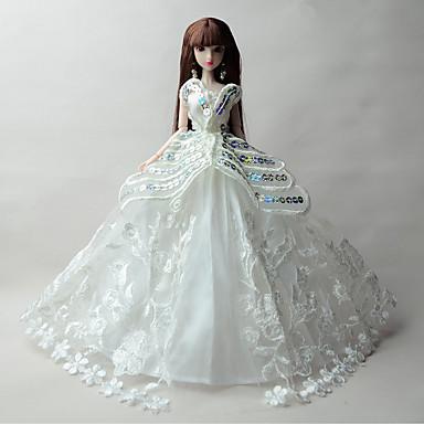 Πριγκίπισσα Φορέματα Για Κούκλα Barbie Δαντέλα Organza Φόρεμα Για Κορίτσια κούκλα παιχνιδιών