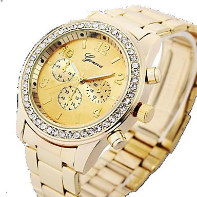 Γυναικεία Μοδάτο Ρολόι Προσομοίωσης Ρόμβος Ρολόι Χαλαζίας PU Μπάντα Ασημί Καφέ Χρυσό Χρυσό Τριανταφυλλί