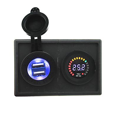 24v doprowadziły woltomierz cyfrowy wyświetlacz oraz 4.2a adapter USB z panelem uchwytu Obudowa dla ciężarówek łodzi samochodów