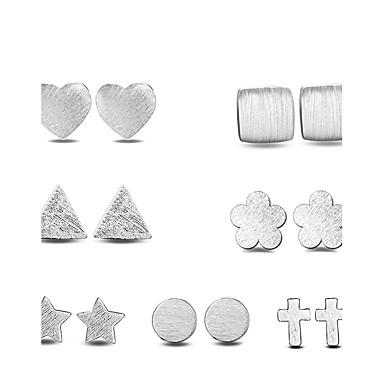 Kolczyki na sztyft Kolczyki Ustaw Biżuteria Posrebrzany Stop Silver Biżuteria Na Ślub Impreza Codzienny Casual 1set