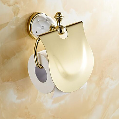 Uchwyt na papier toaletowy Współczesny Mosiądz 1 szt. - Kąpiel w hotelu