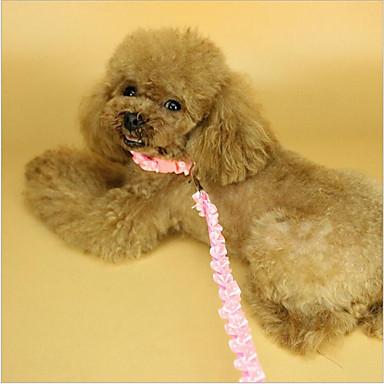 Σκύλος Κολάρα Λουριά Ασφάλεια Μονόχρωμο Δαντέλα Βυσσινί Πράσινο Ροζ