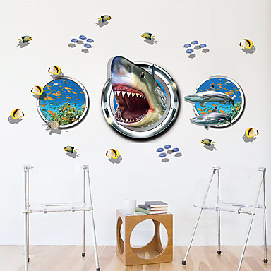 Dekoratif Duvar Çıkartmaları - Uçak Duvar Çıkartmaları / 3D Duvar Çıkartması Hayvanlar / Moda / 3D Oturma Odası / Yatakodası / Banyo