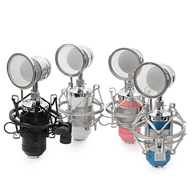 NO Przewodowy Mikrofon do karaoke 3,5 mm Czarny Niebieski Różowy Biały