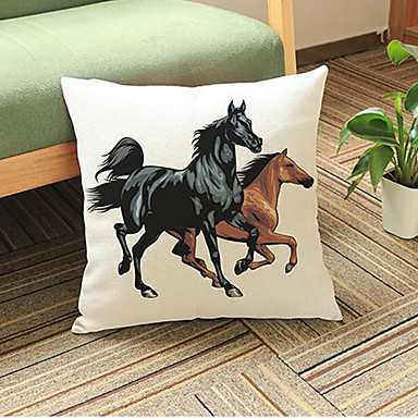1 adet Linen Yastık Kılıfı,Hayvan Desenli Modern/Çağdaş