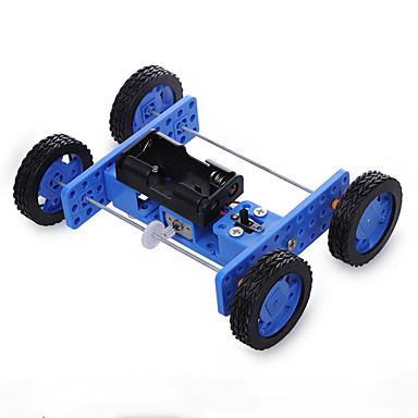 rák királyság diy technológia gyártási összeszerelés játékok kis gumi kerekek két meghajtó autó 30