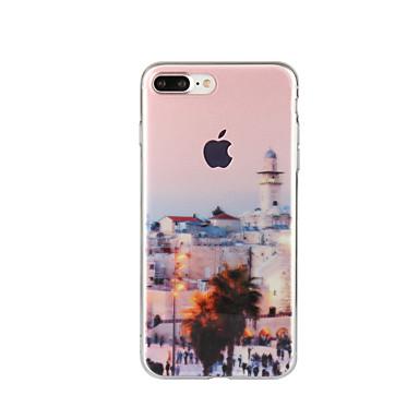 Pentru Model Maska Carcasă Spate Maska Decor Moale TPU pentru Apple iPhone 7 Plus iPhone 7 iPhone 6s Plus/6 Plus iPhone 6s/6