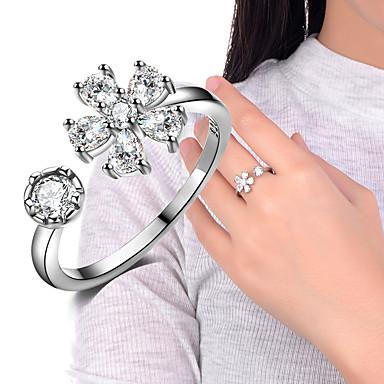 Pierscionek Band Ring Silver Cyrkonia Stop Ślub Impreza Specjalne okazje Codzienny Casual Biżuteria kostiumowa