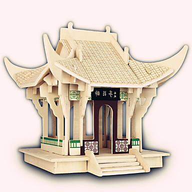 تركيب خشبي بناء مشهور الزراعة الصينية سفينة بيت المستوى المهني خشبي 1pcs للأطفال صبيان هدية