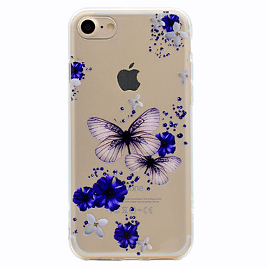 Pouzdro Uyumluluk iPhone 7 Plus iPhone 7 Apple Temalı Arka Kapak Kelebek Yumuşak TPU için iPhone 7 Plus iPhone 7