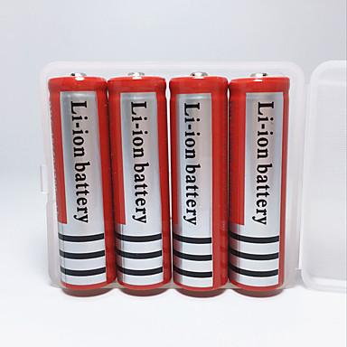 18650 bateria Obudowy akumulatorów mAh 4szt Akumulator Nagły wypadek na Obóz/wycieczka/alpinizm jaskiniowy Do użytku codziennego