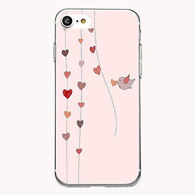 Uyumluluk Kılıflar Kapaklar Ultra İnce Şeffaf Arka Kılıf Pouzdro Kalp Yumuşak TPU için Apple iPhone 7 Plus iPhone 7 iPhone 6s Plus iPhone