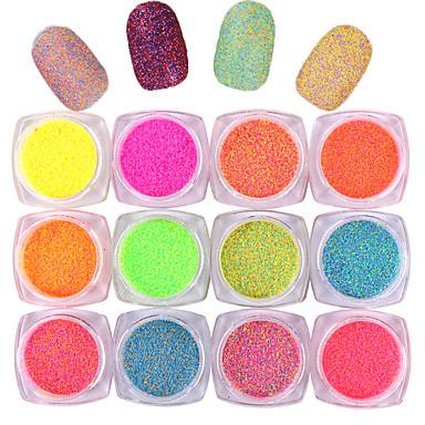 10pcs Glitter & Poudre Powder Matta Klassinen Neon & Bright Korkealaatuinen Päivittäin