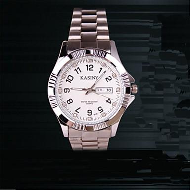 Erkek Kadın's Moda Saat Quartz Paslanmaz Çelik Bant İhtişam Gümüş