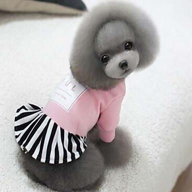 Koira Takit Koiran vaatteet Yhtenäinen Musta Punainen Pinkki Silkki Puuvilla Asu Lemmikit Miesten Naisten Urheilu