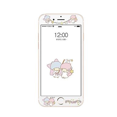 Yumuşak kenar tam ekran kapsama ön ekran koruyucusu karikatür desenli elma iphone 7 artı 5.5 inç temperli cam ekran koruyucusu için