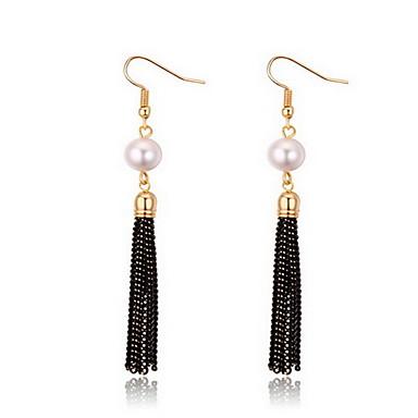 Dame Cercei Stud Perle Natură Modă Perle Aliaj Cross Shape Bijuterii Bijuterii Pentru Zilnic