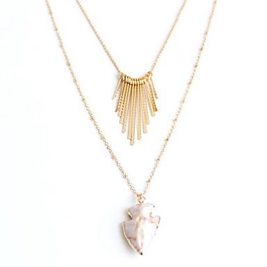 Damskie Naszyjniki z wisiorkami Biżuteria Biżuteria Perłowy Kamień szlachetny Stop Modny Osobiste euroamerykańskiej Europejski Biżuteria