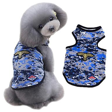 Σκύλος Veste Ρούχα για σκύλους Μοντέρνα Αθλήματα καμουφλάζ Πράσινο Μπλε Στολές Για κατοικίδια