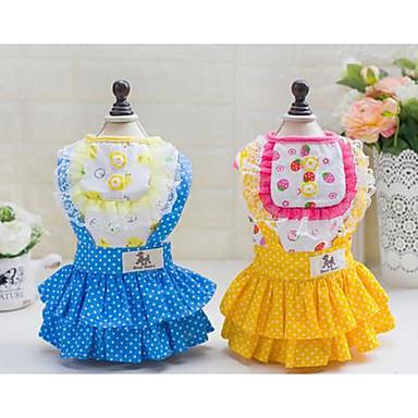 Köpek Paltolar Köpek Giyimi Sevimli Günlük/Sade Prenses Sarı Mavi